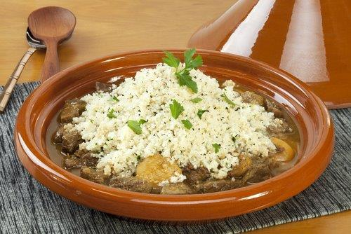Lamb tagine food ingredients