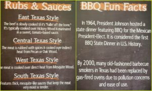 texas bbq food ingredients menu
