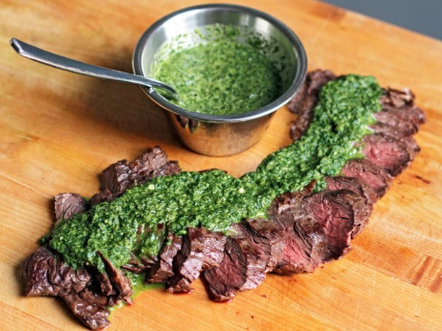 Grilled Flat Iron with Chimichurri