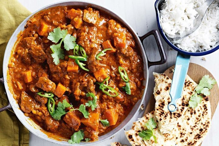 Recipe of the Month Braised Spiced Shoulder of Goat, Curried Pumpkin & Coconut Rice