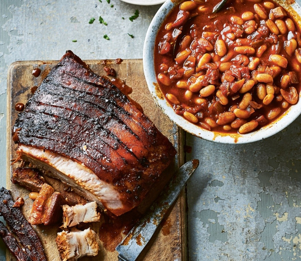 Pork Belly with Nduja Cannellini Beans