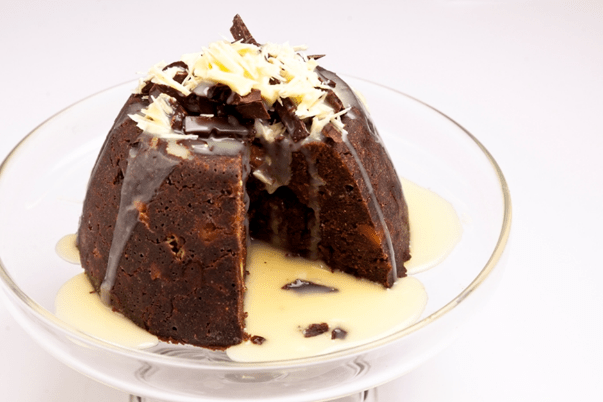 Christmas Dessert - Triple Chocolate Christmas Pudding
