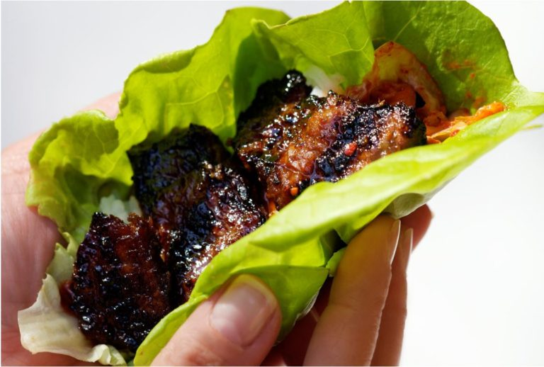 Korean Short Rib Lettuce Wrap