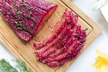 Beetroot salmon